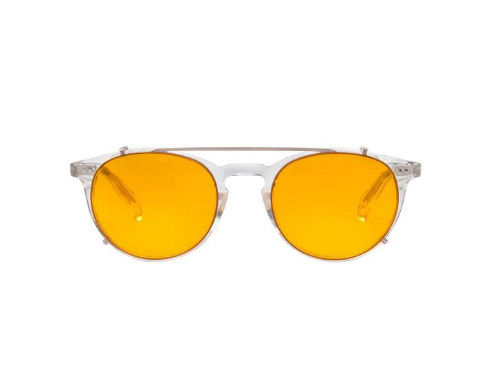 Paul Crystal / Tangerine Clip-on